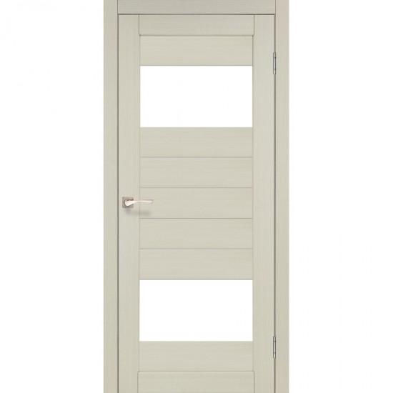 Дверь Porto PR-09 со стеклом сатин Дуб беленый