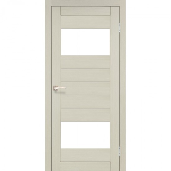 Дверь Porto PR-09 со стеклом бронза Дуб беленый