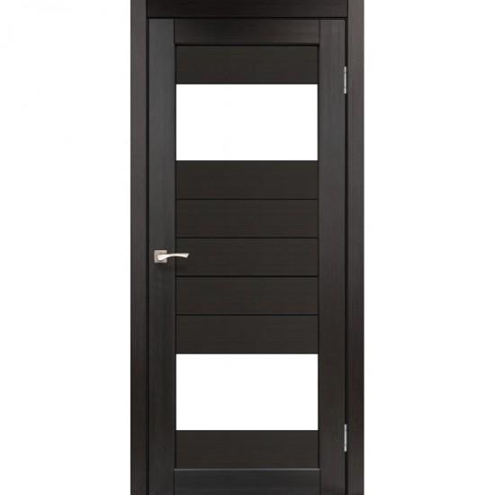 Дверь Porto PR-09 со стеклом бронза Венге