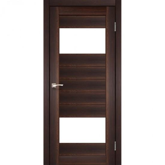 Дверь Porto PR-09 со стеклом бронза Орех