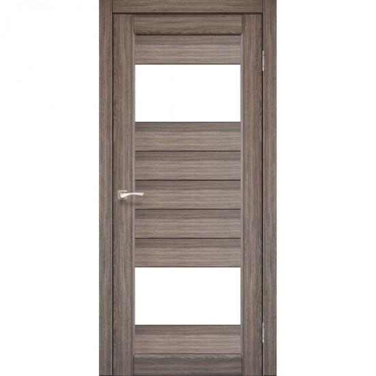 Дверь Porto PR-09 со стеклом сатин Дуб грей