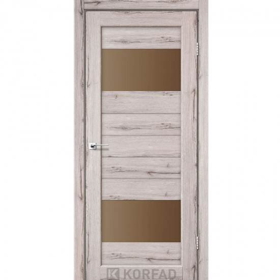 Дверь Porto PR-09 со стеклом бронза Дуб нордик