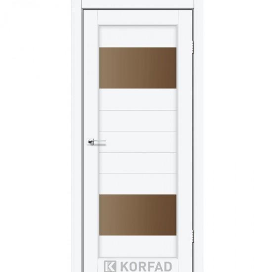 Дверь Porto PR-09 со стеклом сатин Белый перламутр