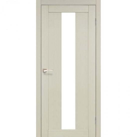 Дверь Porto PR-10 со стеклом бронза Дуб беленый