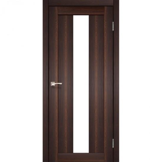 Дверь Porto PR-10 со стеклом бронза Орех
