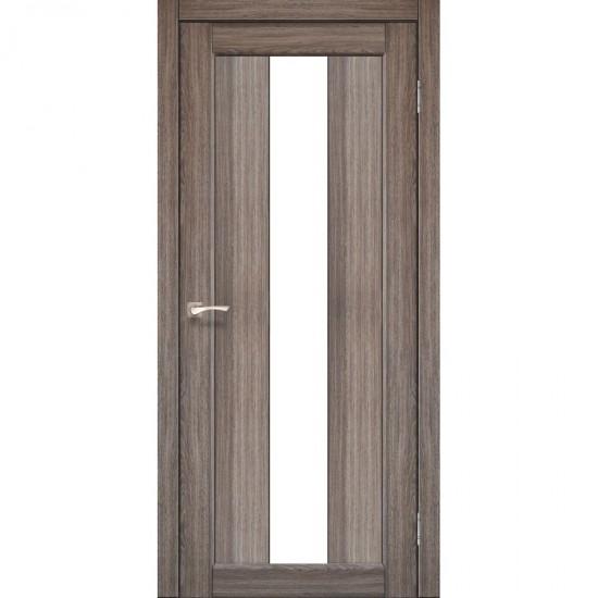 Дверь Porto PR-10 со стеклом сатин Дуб грей