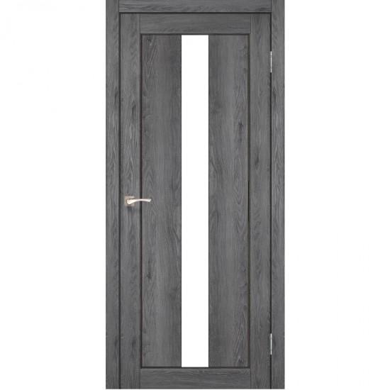 Дверь Porto PR-10 со стеклом сатин Дуб марсала
