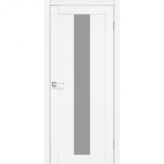 Дверь Porto PR-10 со стеклом сатин Ясень белый