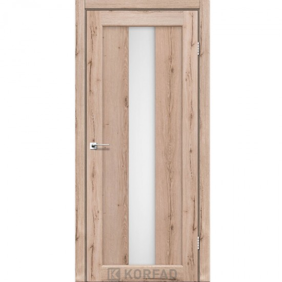 Дверь Porto PR-10 со стеклом сатин Дуб тобакко