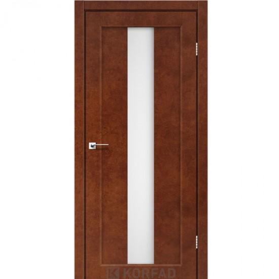 Дверь Porto PR-10 со стеклом бронза Сталь кортен