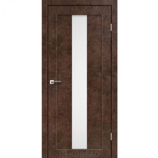 Дверь Porto PR-10 со стеклом сатин Арт бетон