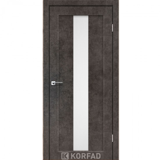 Дверь Porto PR-10 со стеклом бронза Лофт бетон