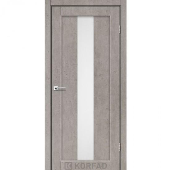 Дверь Porto PR-10 со стеклом сатин Лайт бетон
