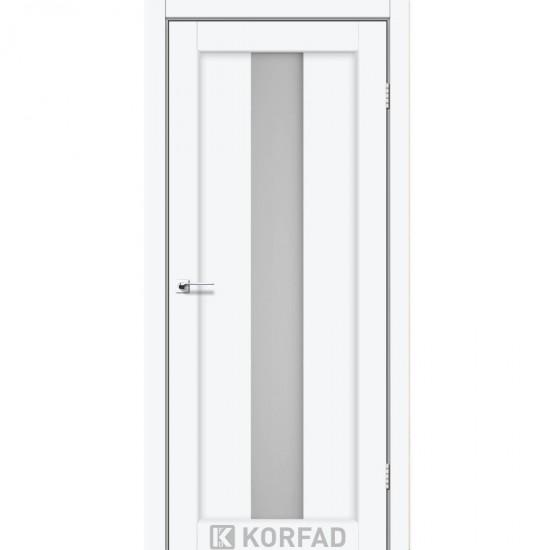 Дверь Porto PR-10 со стеклом сатин Белый перламутр