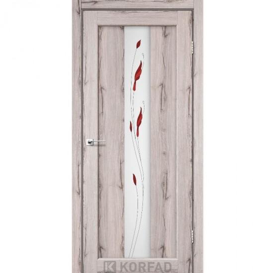 Дверь Porto PR-10 со стеклом сатин и рисунком М1 Дуб нордик