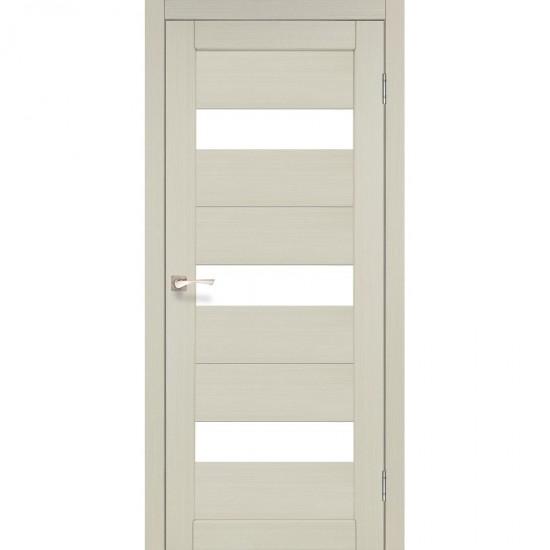 Дверь Porto PR-11 со стеклом сатин Дуб беленый