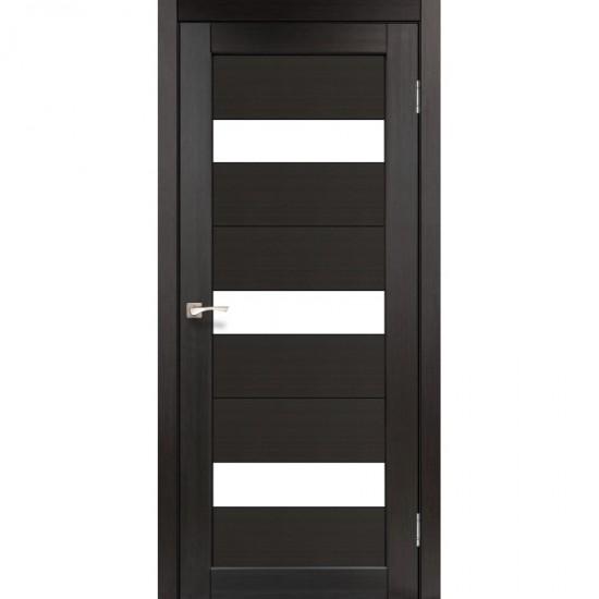 Дверь Porto PR-11 со стеклом сатин Венге