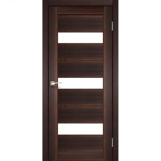 Дверь Porto PR-11 со стеклом сатин Орех