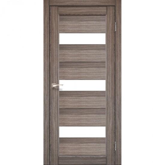 Дверь Porto PR-11 со стеклом сатин Дуб грей