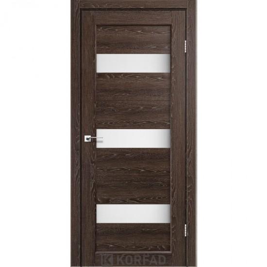 Дверь Porto PR-11 со стеклом сатин Дуб марсала
