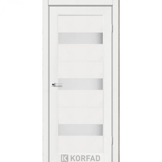 Дверь Porto PR-11 со стеклом сатин Ясень белый
