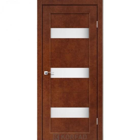 Дверь Porto PR-11 со стеклом сатин Сталь кортен