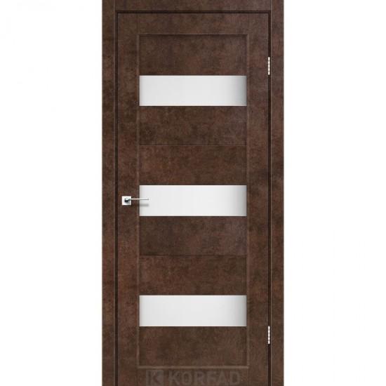 Дверь Porto PR-11 со стеклом сатин Арт бетон