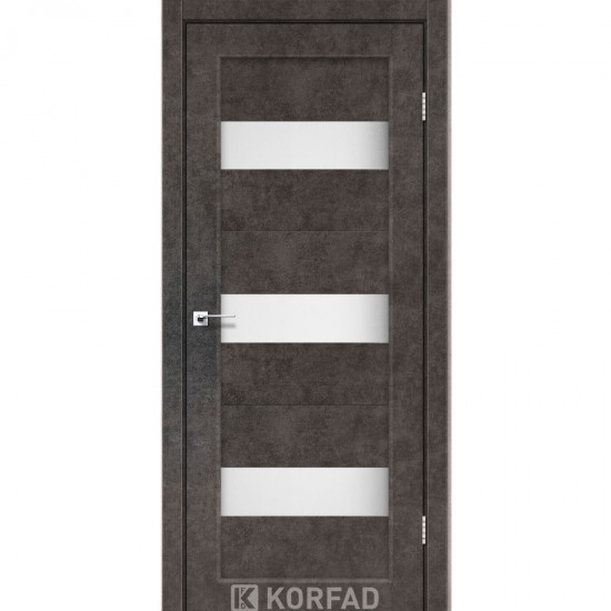 Дверь Porto PR-11 со стеклом сатин Лофт бетон