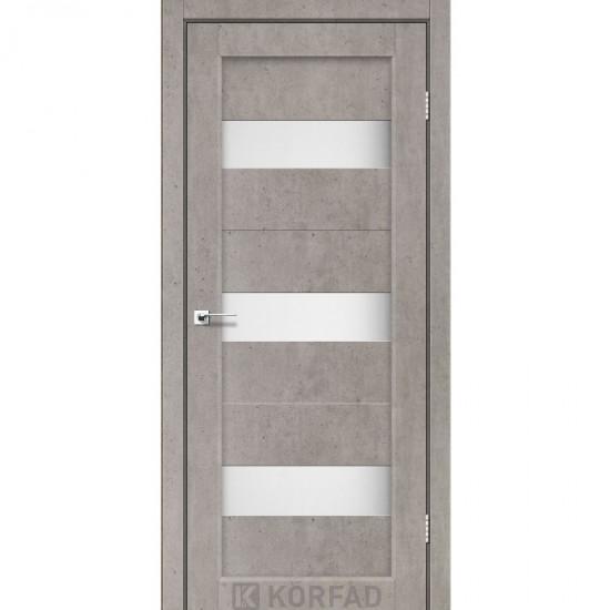 Дверь Porto PR-11 со стеклом сатин Лайт бетон