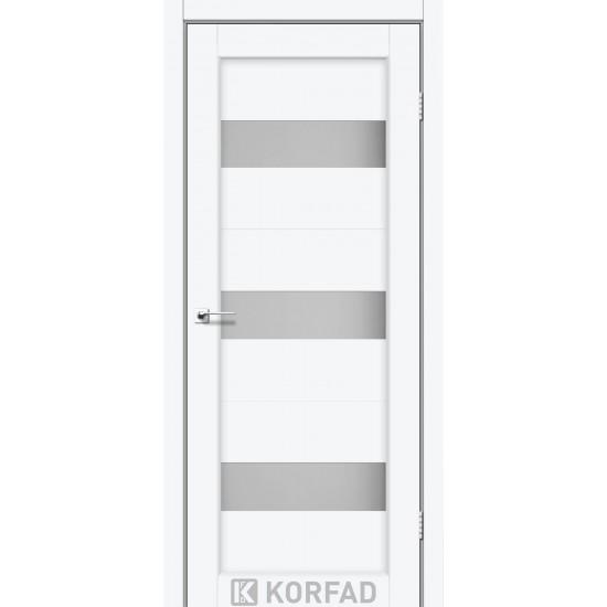 Дверь Porto PR-11 со стеклом сатин Белый перламутр