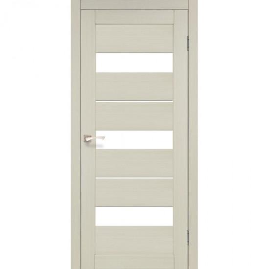 Дверь Porto PR-12 со стеклом сатин Дуб беленый