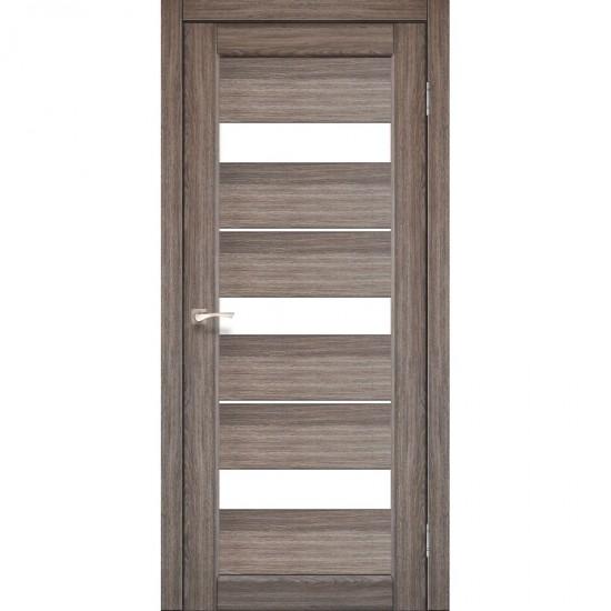 Дверь Porto PR-12 со стеклом сатин Дуб грей