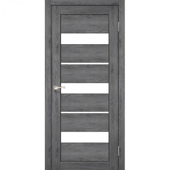 Дверь Porto PR-12 со стеклом сатин Дуб марсала