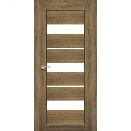 Дверь Porto PR-12 со стеклом сатин Дуб браш
