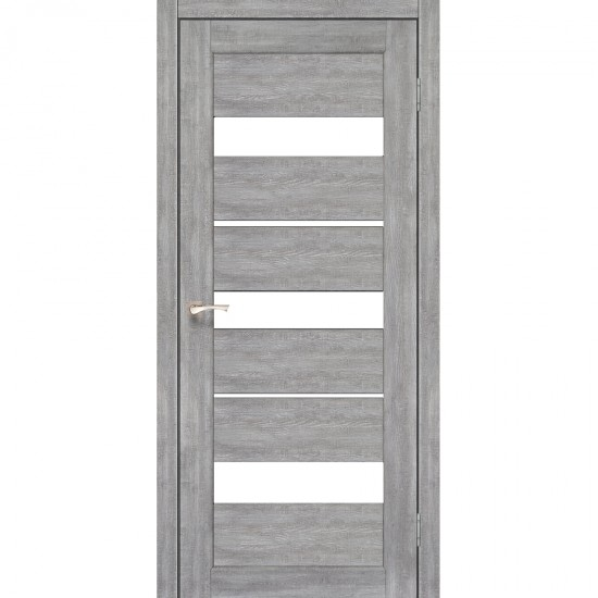 Дверь Porto PR-12 со стеклом сатин Дуб нордик