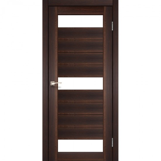 Дверь Porto PR-14 со стеклом бронза Орех