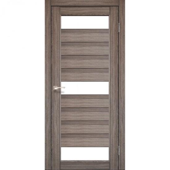 Дверь Porto PR-14 со стеклом сатин Дуб грей