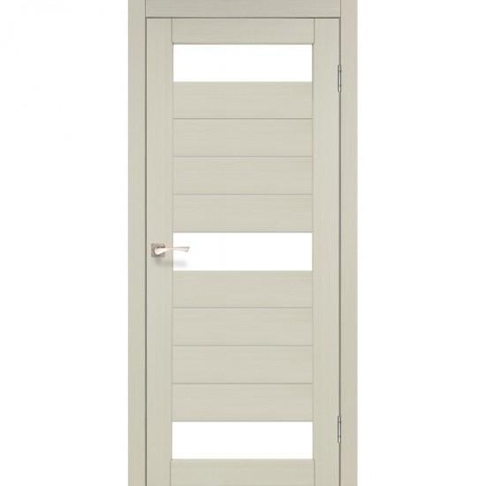 Дверь Porto PR-14 со стеклом бронза Дуб беленый