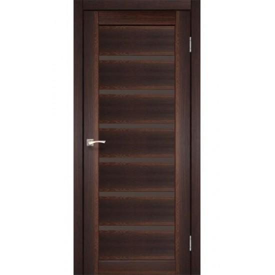 Двери Porto Deluxe PD-01 со стеклом бронза Орех