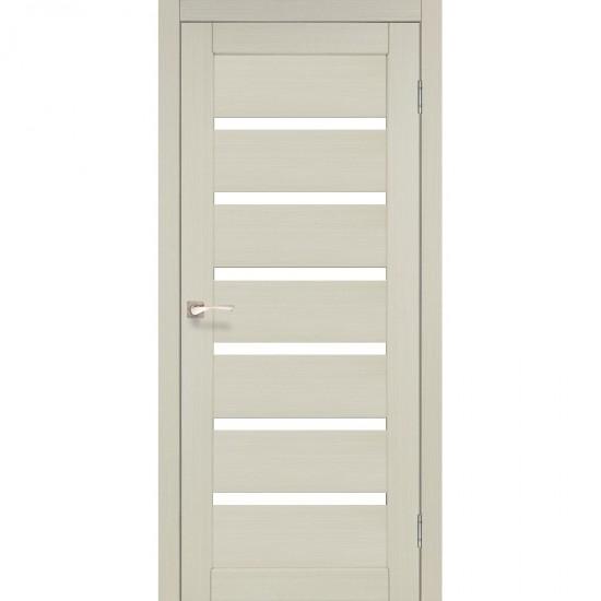 Двери Porto Deluxe PD-01 со стеклом бронза Ясень белый