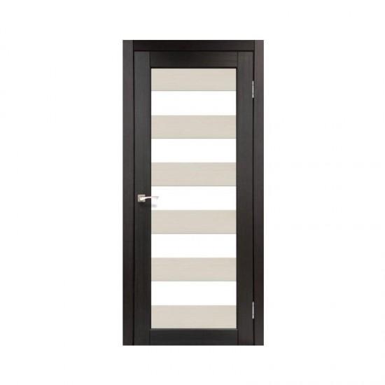 Дверь Porto PC-04 со стеклом сатин комбинированный Дуб беленый-Венге