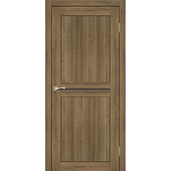 Дверь Milano ML-02 с черным стеклом Дуб браш