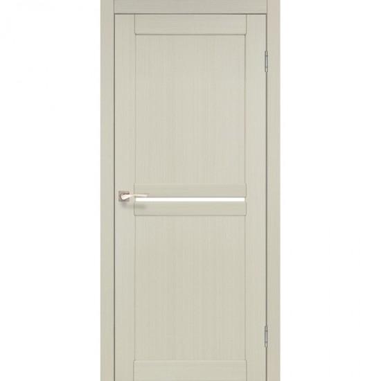Дверь Milano ML-02 со стеклом бронза Белый перламутр