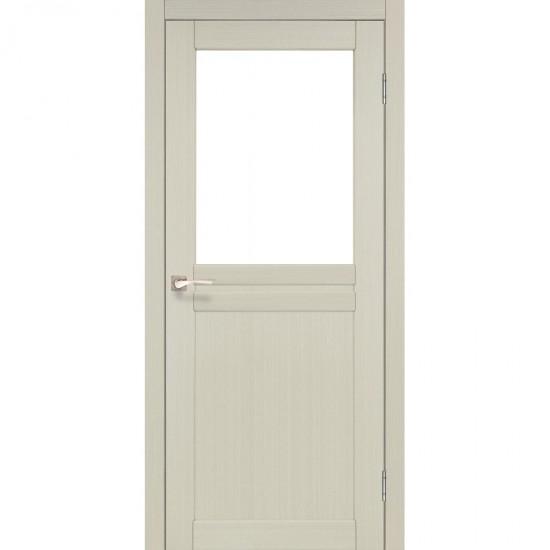 Дверь Milano ML-03 со стеклом бронза Дуб беленый