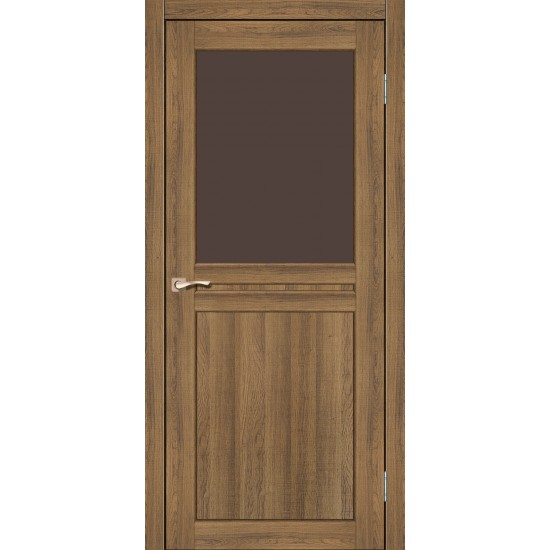 Дверь Milano ML-03 со стеклом бронза Дуб браш
