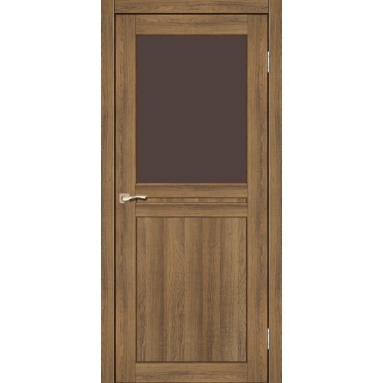 Дверь Milano ML-03 со стеклом бронза Дуб тобакко