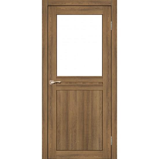 Дверь Milano ML-03 со стеклом сатин Дуб тобакко