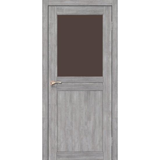 Дверь Milano ML-03 со стеклом бронза Дуб нордик