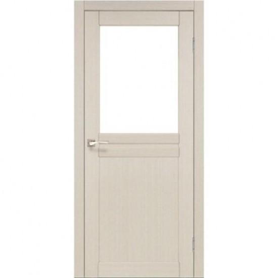 Дверь Milano ML-03 со стеклом бронза Белый перламутр