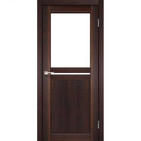 Дверь Milano ML-04 со стеклом бронза Орех